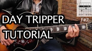 "Como tocar ""Day Tripper"" de Los Beatles - Tutorial Guitarra Acústica FÄCIL (HD)"