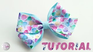 Laço Cris Ribbon Bow Tutorial DIY by Elysia Handmade Top TEN TRENDI...