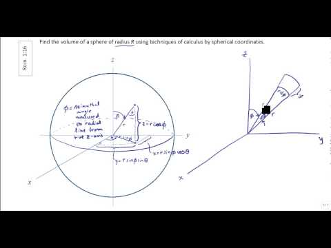 Finding Volume of a Sphere using Triple Integrals in Spherical Coordinates