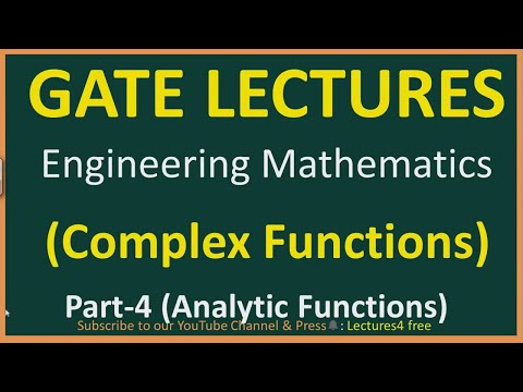Complex Functions Part-4 (Analytic Function) || Engineering Mathematics for GATE