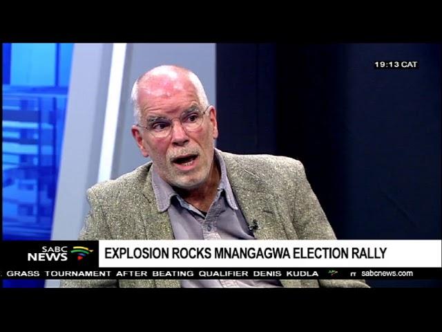 Professor Moore looks at events surrounding Zimbabwe rally explosion.