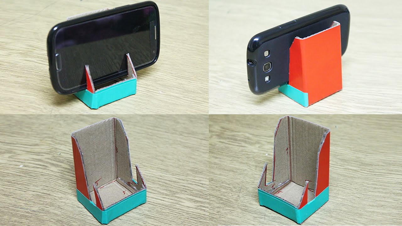 How to make a phone stand - DIY phone stand - YouTube