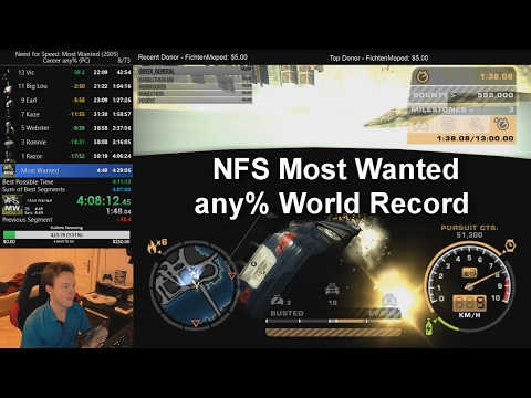 Need For Speed Most Wanted Speedrun - any% World Record 4:09