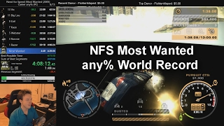 Need For Speed Most Wanted Speedrun - any% 4:09:23