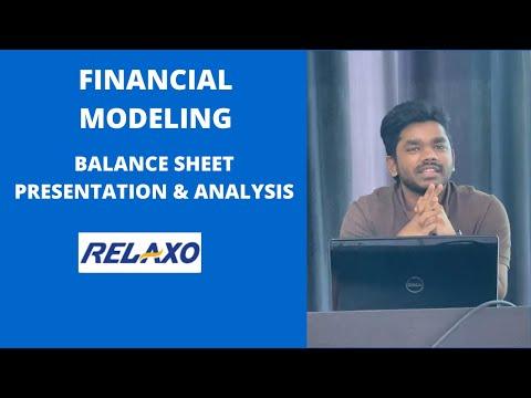 Financial Modeling | Relaxo | Balance Sheet Presentation & Analysis