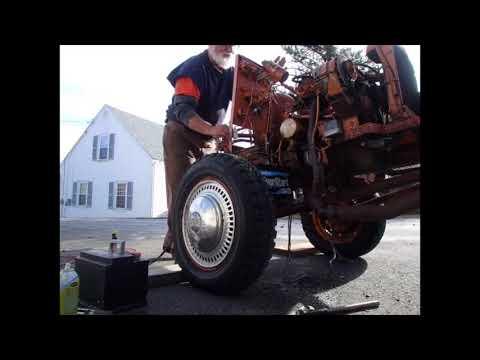 V4 Ford Saab powered wood splitter 2