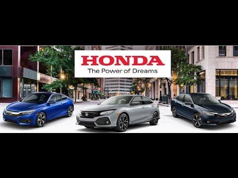 New 2017 Honda Accord Hybrid EX-L vs Civic Hatch vs Civic LX (MSRP MPG Colors Review Rating Options)