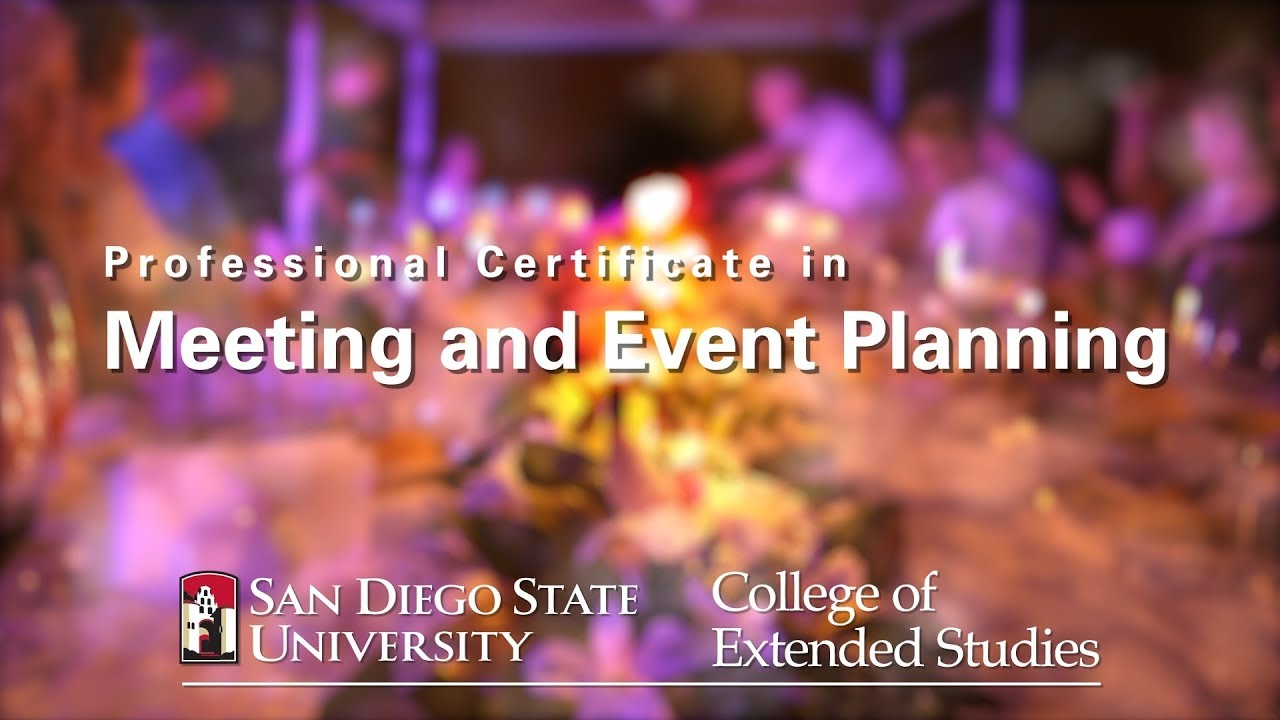 Professional Certificate in Meeting and Event Planning