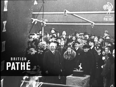 Launch Of HMS Nubian At Southampton  (1937)