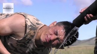 Mongolian Police Being Hit With Pepper Spray - US Marines/Mongolian Joint Exercise. 2/2