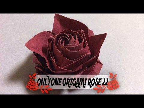 ハート 折り紙:達人折りのバラの折り紙-youtube.com