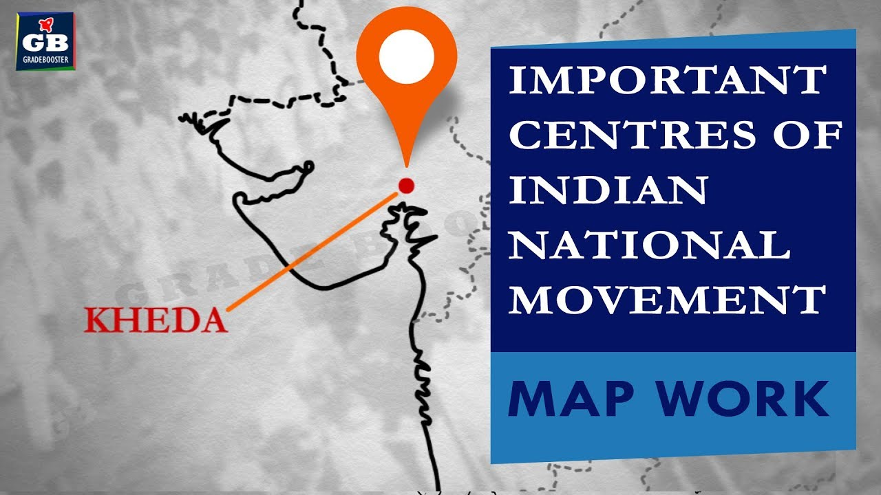 Imp centres of INM #Nationalism in india  MAP WORK  cbse  ncert class 10    history   social science