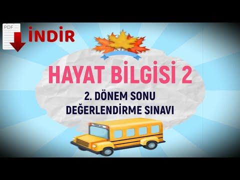 2. SINIF HAYAT BİLGİSİ - 2. DÖNEM DEĞERLENDİRME SINAVI