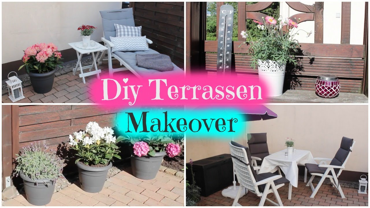 diy terrassen makeover tipps tricks inspirationen f r balkon terrasse garten youtube. Black Bedroom Furniture Sets. Home Design Ideas