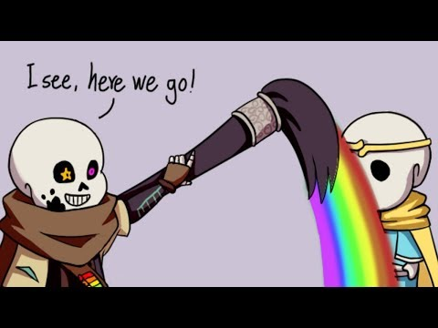 Ink Sans Draws A New Weapon For Dream Sans【 Undertale Animation - Undertale Comic Dubs 】