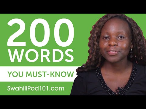 200 Words Every Swahili Beginner Must-Know