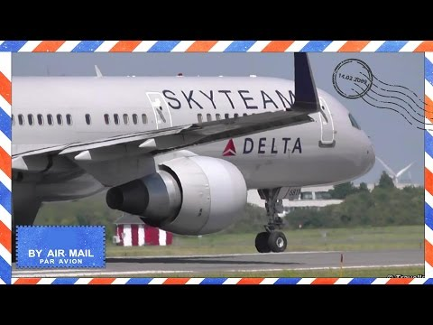 Skyteam Livery on Delta Air Lines Boeing 757 takeoff at CPH bound for JFK - N705TW - Store Magleby