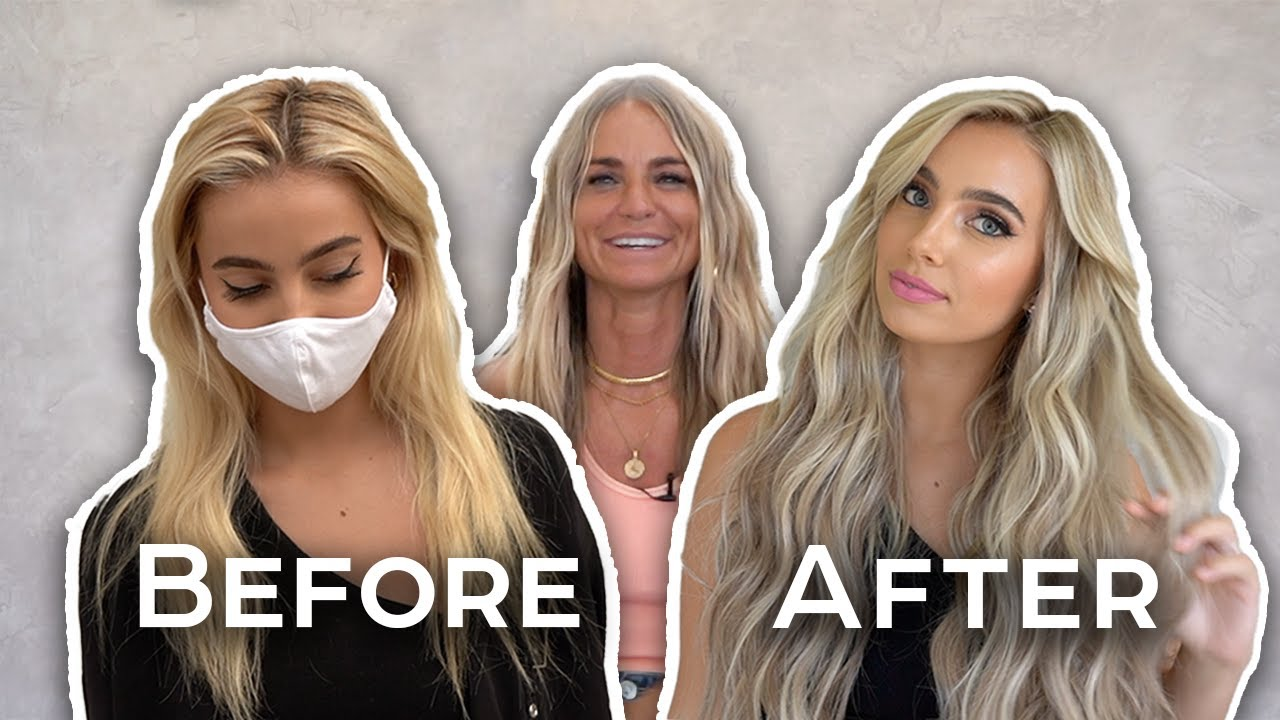 TRANSFORMING Youtuber Lexi Hensler To A Bright ICY Blonde! | Hair By Chrissy