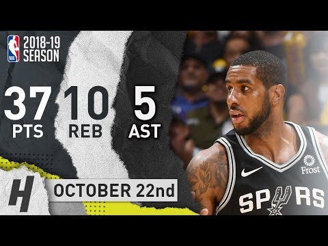 LaMarcus Aldridge Full Highlights Spurs vs Lakers 2018.10.22 - 37 Pts, 5 Ast, 10 Reb!