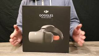 DJI Goggles Race Edition RE - Unbox & Review - Feature & Menu Walk Through