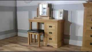 Farmhouse Country Oak Dressing Table Set