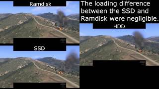 ArmA 3 Beta - Ramdisk vs SSD vs HDD (read description for info)