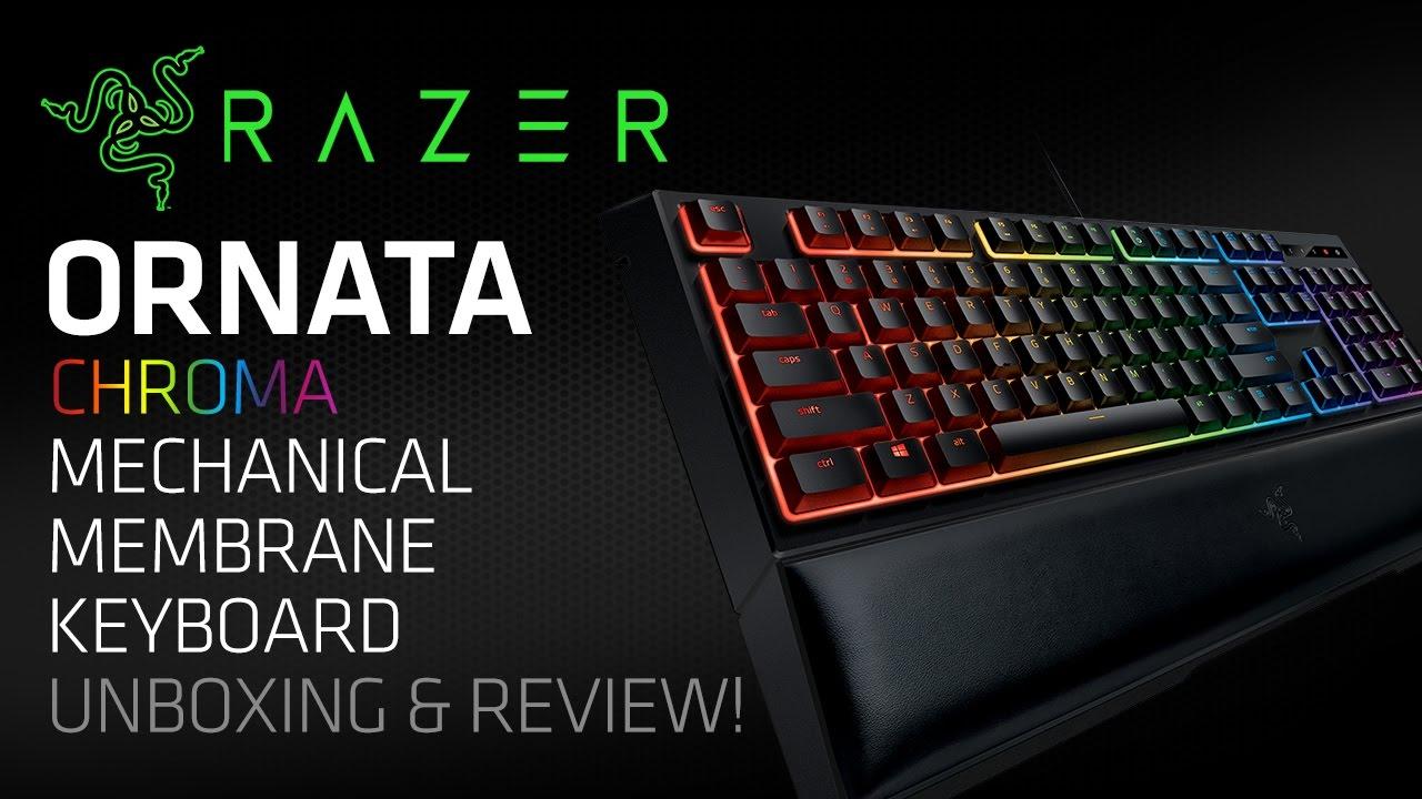 Razer Ornata Chroma RGB Mechanical Membrane Gaming Keyboard Unboxing &  Review! (Mecha-Membrane)