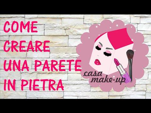 COME DECORARE LE PARETI CON EFFETTO PIETRA - YouTube