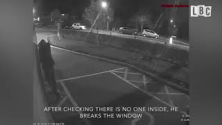 CCTV: Thief Breaks Into Ambulance And Steals From Paramedics