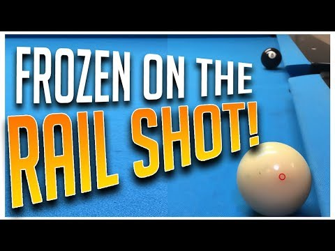 ADVANCED POOL - BILLIARDS LESSONS!  When Cueball and Object Ball are Frozen on Rail