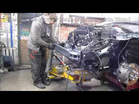 Volvo S60. The front part repair. Ремонт переда.