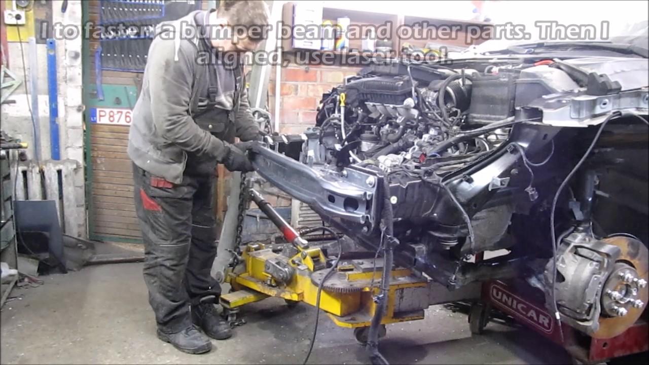 Volvo S60. The front part repair. Ремонт переда.