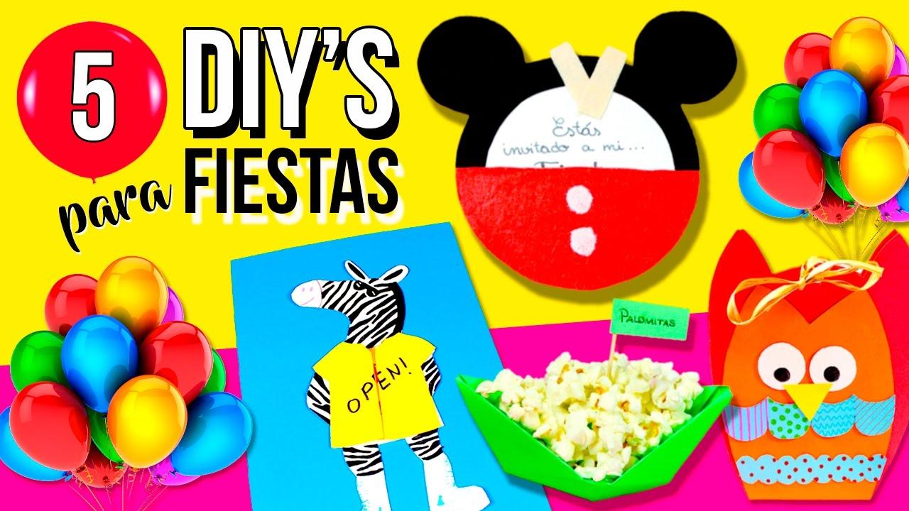 Diy 39 s f ciles para fiestas 5 ideas para fiestas - Ideas divertidas para fiestas ...