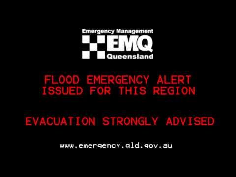 Queensland Floods 2011 - TV Emergency Alert