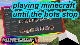ROBLOX IS FULL OF BOTS SO I'VE RETREATED TO MINECRAFT WHERE ITS SAFE