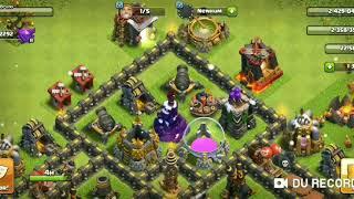 Atacando no Clash of Clans, só com quebra muros, deu certo?