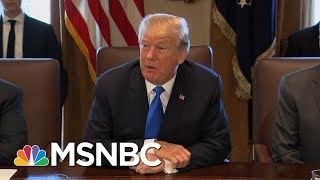 President Donald Trump Blames Democrats For Not Good Shutdown  Velshi  Ruhle  MSNBC
