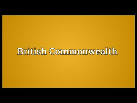 British Commonwealth Meaning