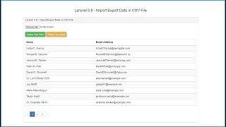 Laravel 5.8 - Import Export Data in CSV File