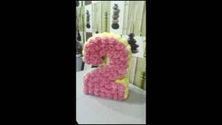 видео Как сделать цифру 2 на день рождения своими руками из салфеток