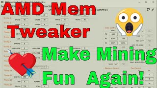 AMD Memory Tweaker Tool - Making AMD Great Again! 50+ MH Vega's, 85w RX580's oh my!