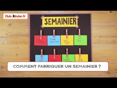 diy comment fabriquer un semainier youtube. Black Bedroom Furniture Sets. Home Design Ideas