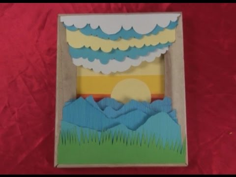Art Lesson: How to Make a 3D Framed Paper Craft Scene - YouTube