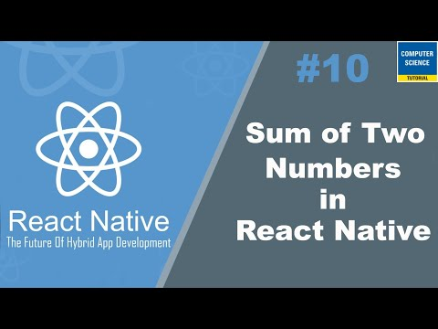 Sum of Two Number in React Native thumbnail