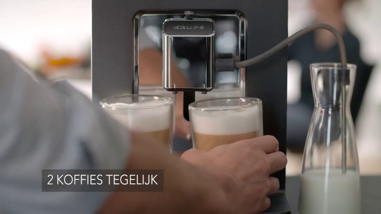 video Krups Evidence One EA895E Volautomaat Espressomachine Koffiemachine – Grijs