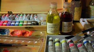 Qué materiales utilizar para pintar al óleo. Curso de pintura. Principiantes.