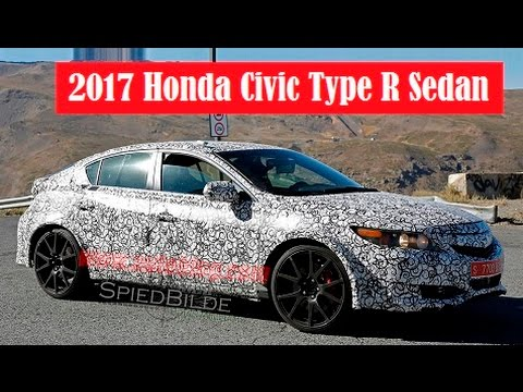 2017 Honda Civic Type R Sedan, spied this setup fits the style much better than the earlier car