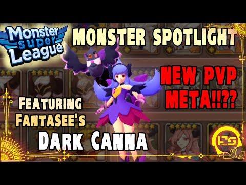 Monster Super League MONSTER SPOTLIGHT!! DARK CANNA 6Star Evo3!! PVP & GOLEM B10 TESTS!! ♕