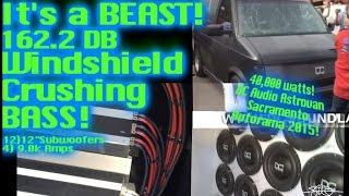 Windshield Crushing BASS - It's a BEAST 162.2db DC Audio Astrovan - 40,000 Watts