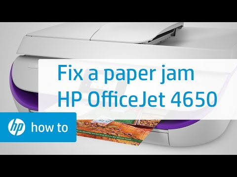 Fixing a Paper Jam on the HP OfficeJet 4650 Printer | HP OfficeJet | HP